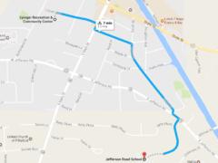 Bike to School Route