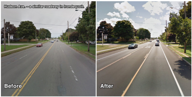 East Ave Before and After
